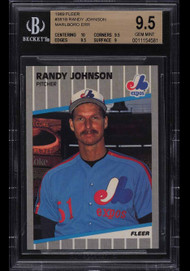 1989 Fleer Randy Johnson Rookie RC Marlboro BGS 9.5 w/10 sub