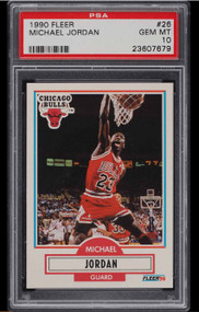 1990 Fleer Michael Jordan #26 HOF PSA 10 Gem Mint