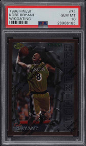 1996 Finest w/ Coating Kobe Bryant ROOKIE RC #74 PSA 10 GEM MINT