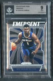 2019 Prizm Emergent Zion Williamson Rookie RC BGS 9 Mint