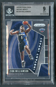 2019 Prizm Instant Impact Zion Williamson Rookie RC #7 BGS 9 Mint