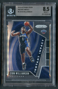 2019 Prizm Instant Impact Zion Williamson Rookie RC BGS 8.5