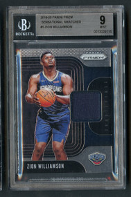2019 Prizm Swatches Zion Williamson Rookie RC Patch BGS 9 Mint