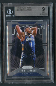 2019 Prizm Base Zion Williamson Rookie RC BGS 9 Mint