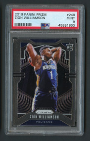 2019 Prizm Zion Williamson Rookie RC #248 PSA 9 Mint