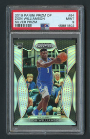 2019 Prizm DP Silver Zion Williamson Rookie RC #64 PSA 9 Mint