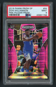 2019 Prizm DP Pink Pulsar Zion Williamson Rookie RC #64 PSA 9 Mint