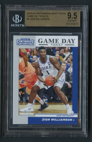 2019 Contenders GDT Zion Williamson Rookie RC #1 BGS 9.5 Gem Mint