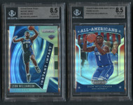 2019 Prizm Zion Williamson Rookie Lot Silver Prizms BGS 8.5