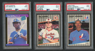 1989 Fleer Bill Ripken FF/Randy Johnson Marlboro Error & Ken Griffey RC PSA 9 LOT
