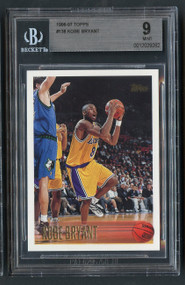 1996 Topps Kobe Bryant Rookie RC #138 BGS 9 Mint-Centered