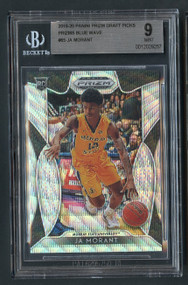 2019 Prizm DP Ja Morant Prizms Rookie Blue Wave /299 BGS 9 Mint