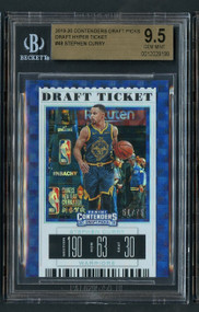 2019 Contenders DP Steph Curry Hyper Ticket /75 BGS 9.5 Gem Mint
