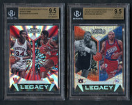 2019 Legacy Olajuwon/Barkley Serial #SP BGS 9.5 Gem Mint 2-Card Lot