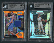 2019 Prizm RJ Barrett Rookie RC 2-Card Lot w/Silver Prizms-BGS