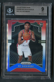 2019 Prizm Rui Hachimura Red White Blue Prizms Rookie BGS 9 Mint