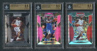 2019 Prizm DP Zion Williamson RC BGS 9.5 Gem Mint 3-Card Lot w/Inserts