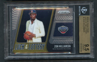 2019 Prizm Luck of Lottery Zion Williamson Rookie BGS 9.5 Gem Mint