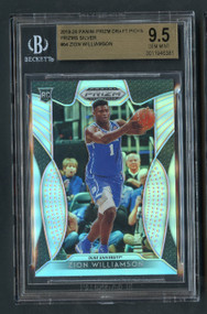 2019 Prizm DP Zion Williamson Rookie RC Silver Prizms BGS 9.5 Gem Mint