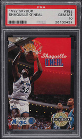 1992 Skybox Shaquille O'Neal Rookie RC PSA 10 Gem Mint