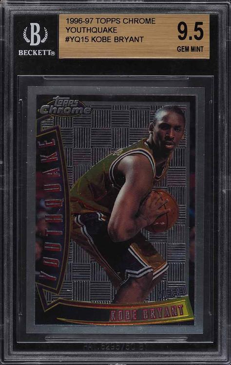 1996 Topps Chrome Kobe Bryant Rookie RC #YQ15 BGS 9.5 Gem Mint