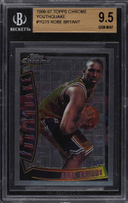 1996 Topps Chrome Kobe Bryant Rookie RC #YQ15 BGS 9.5 Gem Mint