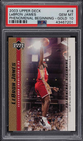2003 Upper Deck P.B. Gold Lebron James #18 PSA 10 Gem Mint