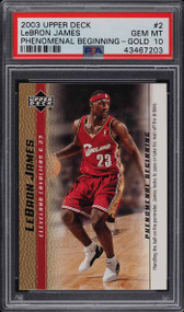 2003 Upper Deck P.G. Gold #2 Lebron James Rookie RC PSA 10 Gem Mint