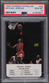 1988 Fournier Estrellas Michael Jordan #22 Gem Mint PSA 10