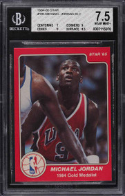 1984 Star Michael Jordan Rookie RC #195 BGS 7.5