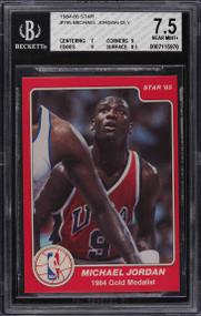1984 Star Michael Jordan Rookie RC #195 BGS 7.5