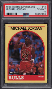 1990 Hoops Superstars Michael Jordan #12 HOF PSA 10 Gem Mint