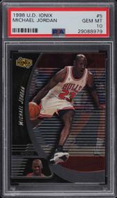 1998 U.D. Ionix Michael Jordan #5 HOF PSA 10 Gem Mint