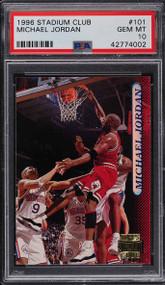 1996 Stadium Club Michael Jordan #101 HOF PSA 10 Gem Mint