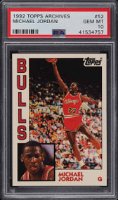 1992 Topps Archive Michael Jordan #52 PSA 10 Gem Mint