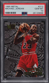 1995 Metal Michael Jordan #212 PSA 10 Gem Mint