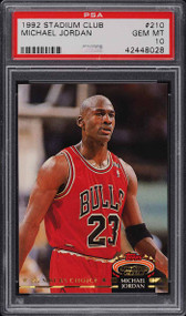 1992 Stadium Club Michael Jordan #210 PSA 10 Gem Mint