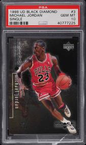 1998 UD Black Diamond Michael Jordan #3 PSA 10 Gem Mint