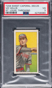 T206 Sweet Caporal Vic Willis HOF PSA 3-Centered