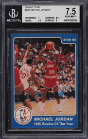 1984-85 Star Basketball Michael Jordan ROOKIE RC #288 BGS 7.5 NRMT+