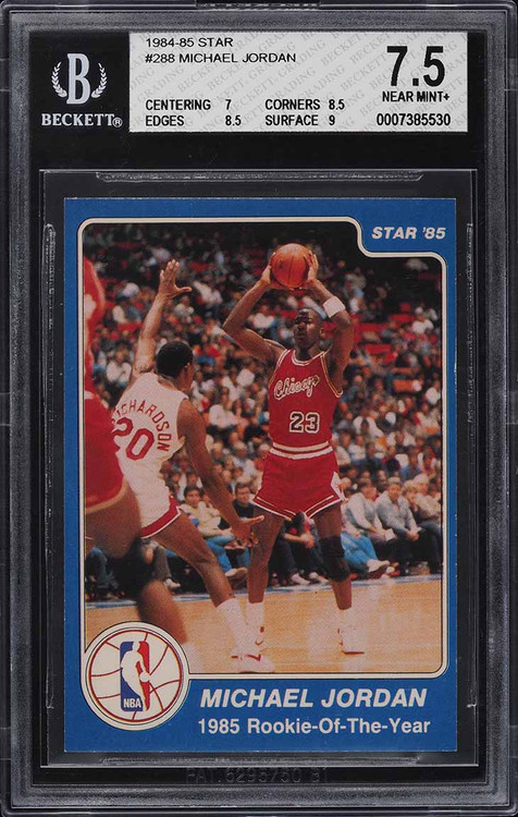1984-85 Star Basketball Michael Jordan ROOKIE RC #288 BGS 7.5 NRMT+