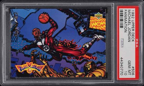 1992 Upper Deck Fanimation Michael Jordan #506 PSA 10 GEM MINT