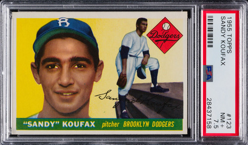 1955 Topps Sandy Koufax Rookie RC #123 HOF PSA 7.5 - Centered & High-End