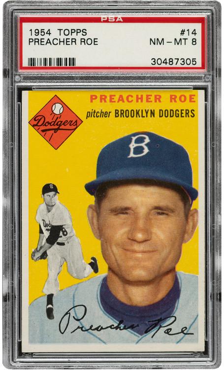 1954 Topps Preacher Roe #114 PSA 8-Centered & High-End