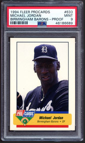 1994 Fleer Procards Birmingham Barons #633 Michael Jordan Proof PSA 9 MINT