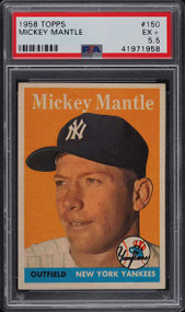 1958 Topps Mickey Mantle #150 PSA 5.5-Centered & High-End