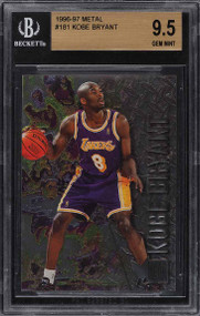 1996 Metal Basketball Kobe Bryant ROOKIE RC #181 BGS 9.5 QUAD GEM MINT