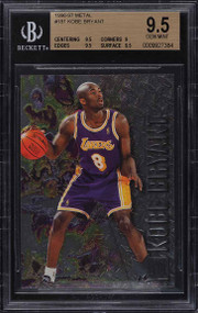 1996 Metal Basketball Kobe Bryant ROOKIE RC #181 BGS 9.5 GEM MINT