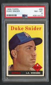 1958 Topps Duke Snider #88 HOF PSA 8 - Centered & High-End