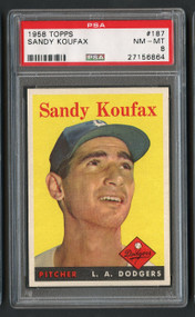 1958 Topps Sandy Koufax #187 HOF PSA 8 Near Mint- Centered